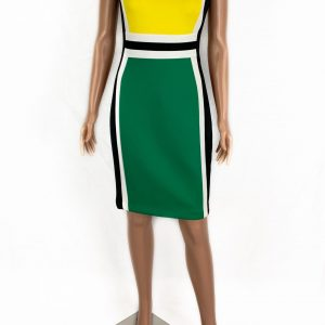 Vestido Calvin Klein cuello redondo verde